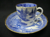 NOW SOLD - coffee can & matched saucer c1800